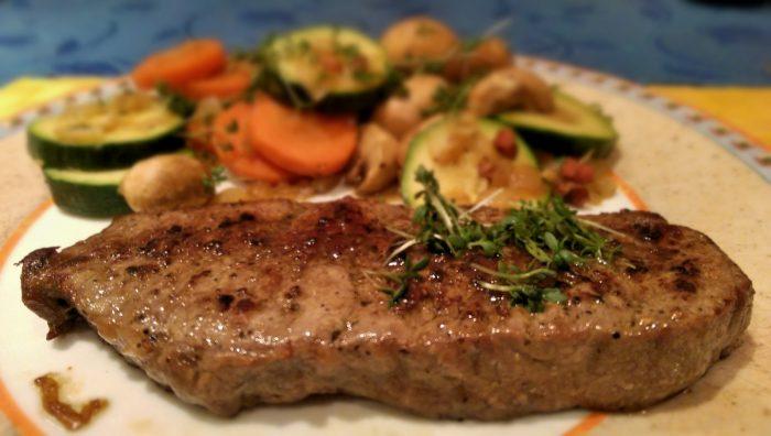 Roastbeef mit Ingwergemüse