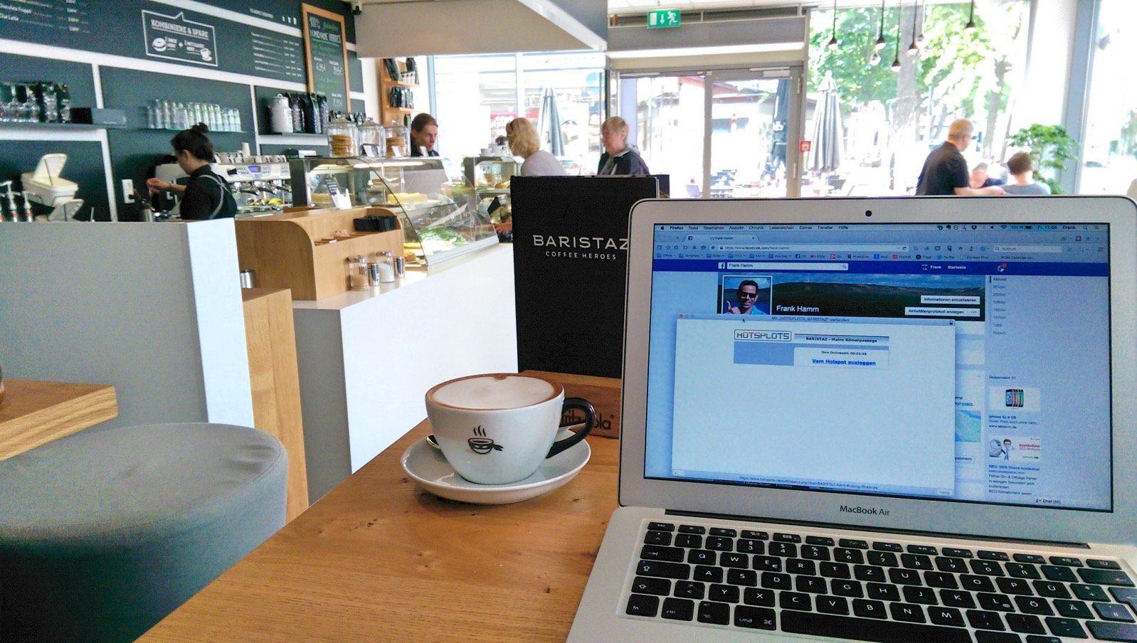 Wissensarbeit im Baristaz in Mainz