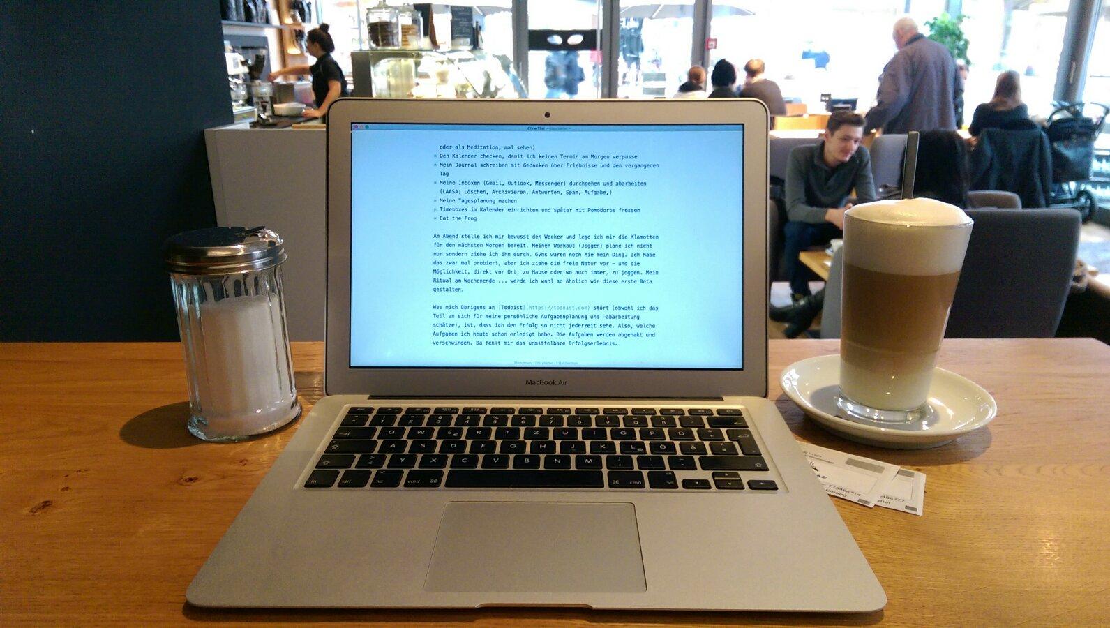 Bloggen im Baristaz