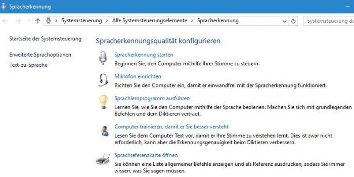 Windows 10 Spracherkennung
