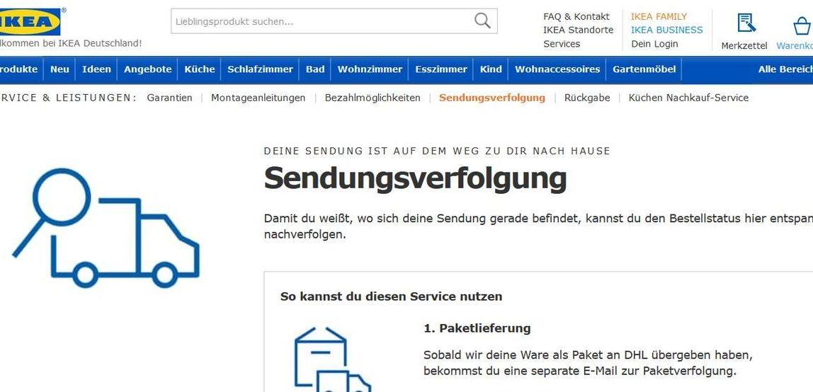IKEA: Bestellstatus hier entspannt nachverfolgen