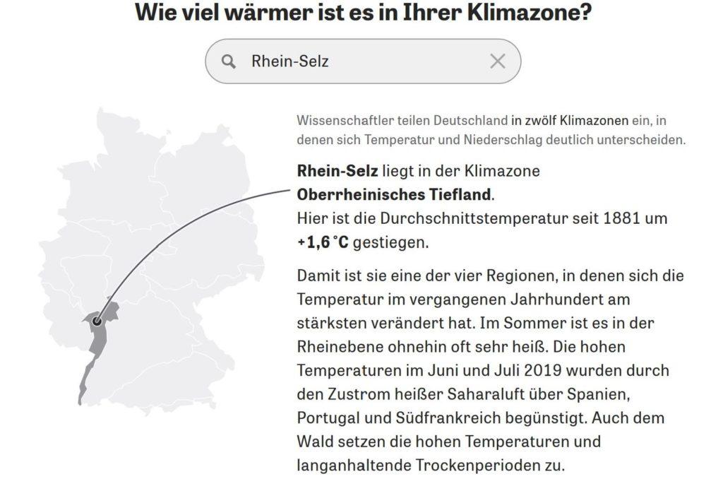 Klimazone Rhein-Selz (Quelle: Viel zu warm hier, Zeit Online)