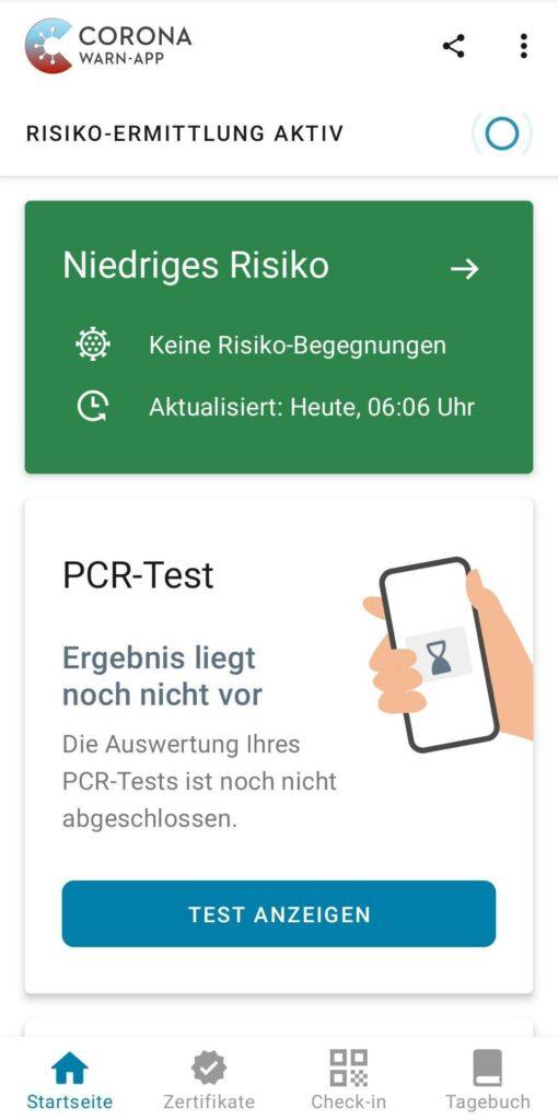 Corona-Warn-App: PCR-Test